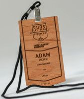 Customized Sports PR Summit name badge